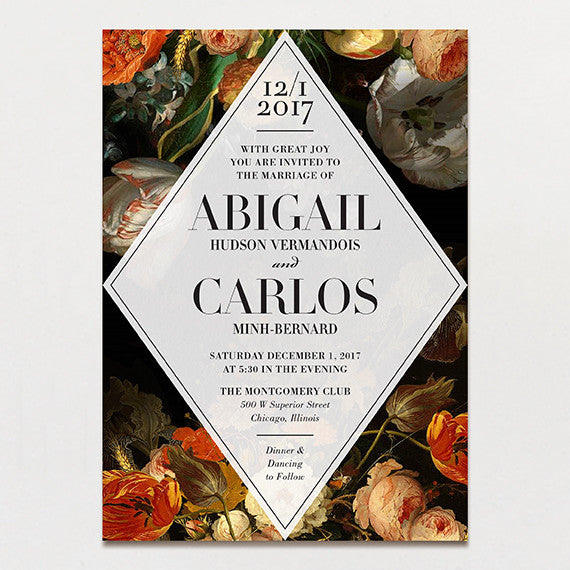 Luxe Life Wedding Invitation