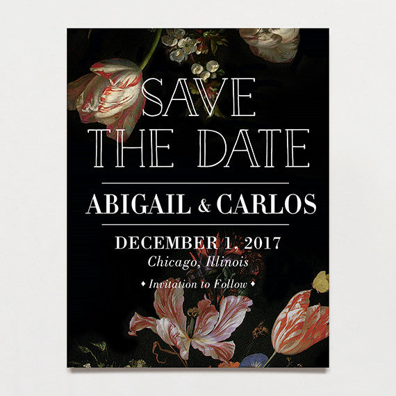 Luxe Life Save The Date Postcard