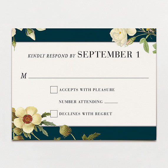 Magnolia Bouquet Response Card