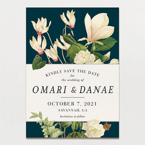 Magnolia Bouquet Save The Date