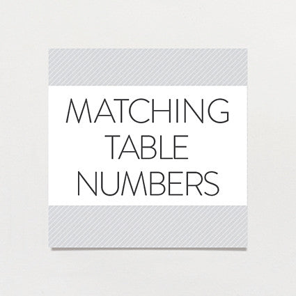 Matching table number