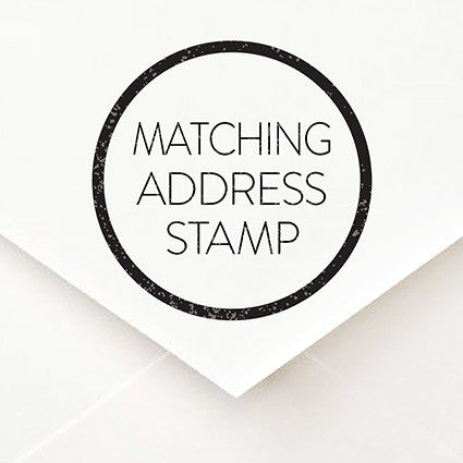 Matching Address Stamp - $55