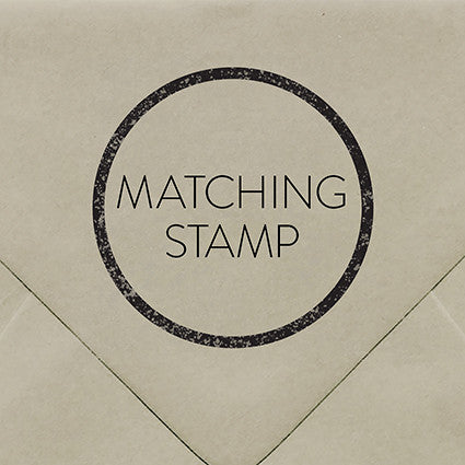 Matching Rubber Stamp - $55