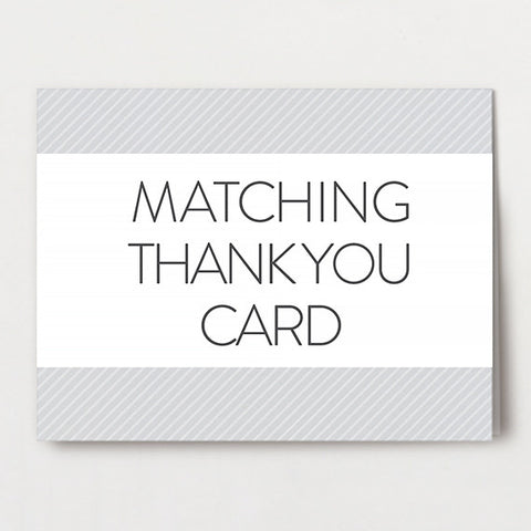 Matching Thank You Folded