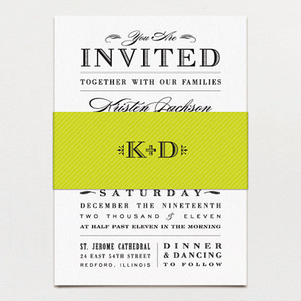 Metropolitan Wedding Invitation