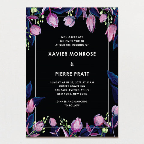 Midnight Garden Wedding Invitation