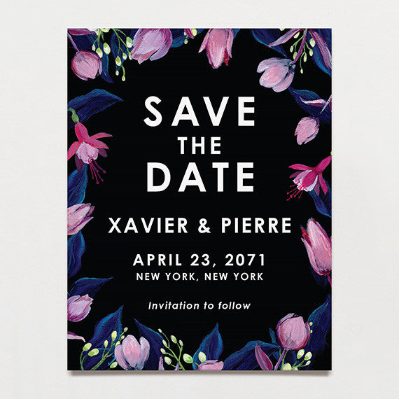 Midnight Garden Save The Date Postcard