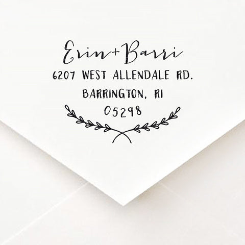 Modern Calligraphy Address Stamp - $55