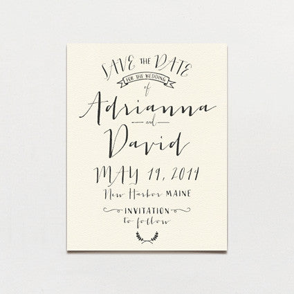 Modern Calligraphy Save The Date Postcard