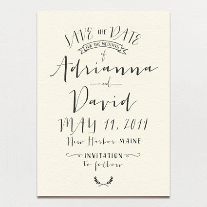 Modern Calligraphy Save The Date