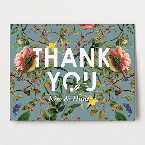 Modern Chinoiserie Thank You Folded