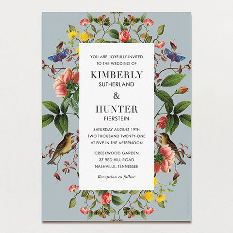 Modern Chinoiserie Wedding Invitation