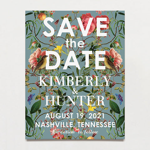 Modern Chinoiserie Save The Date Postcard