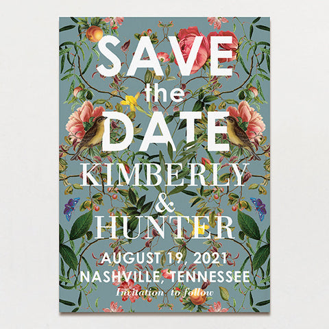 Modern Chinoiserie Save The Date