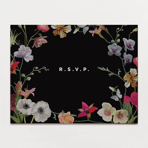Moonlit Rsvp Postcard