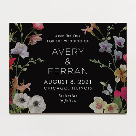 Moonlit Save the Date Postcard