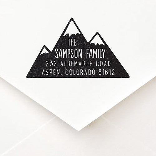Mountain Address Stamp - $55
