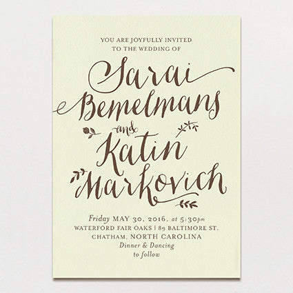 Nutmeg Wedding Invitation
