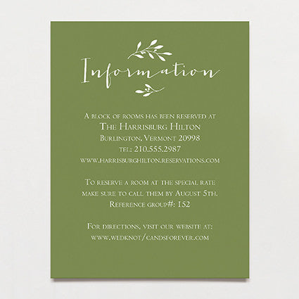 Olive Branch Insert Card