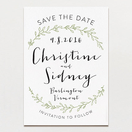 free electronic save the date templates - olive branch save the date printable press