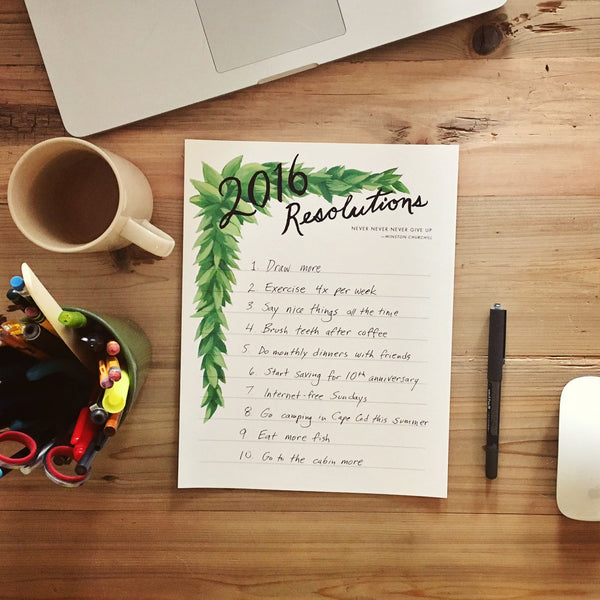 Resolutions 2016 Free Printable
