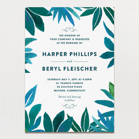 Palmetto Wedding Invitation