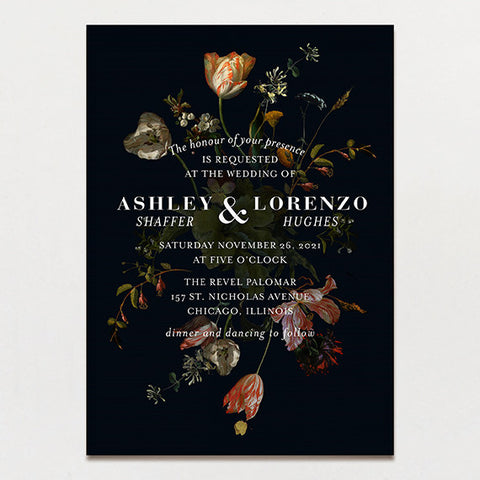Parisian Wedding Invitation