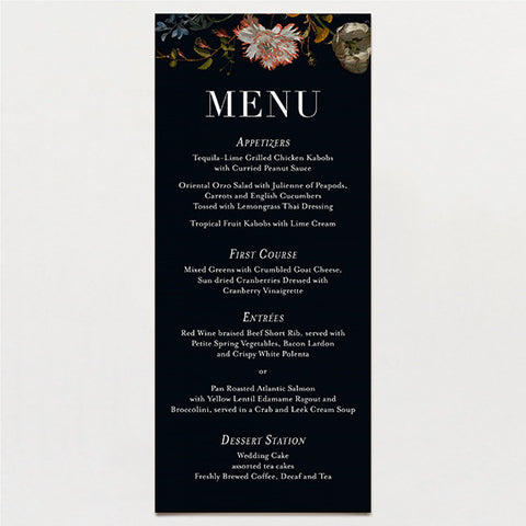 Parisian Menu
