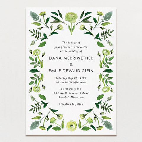 Pattern Blooms Wedding Invitation