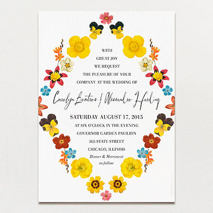 Pattern Petal Wedding Invitation