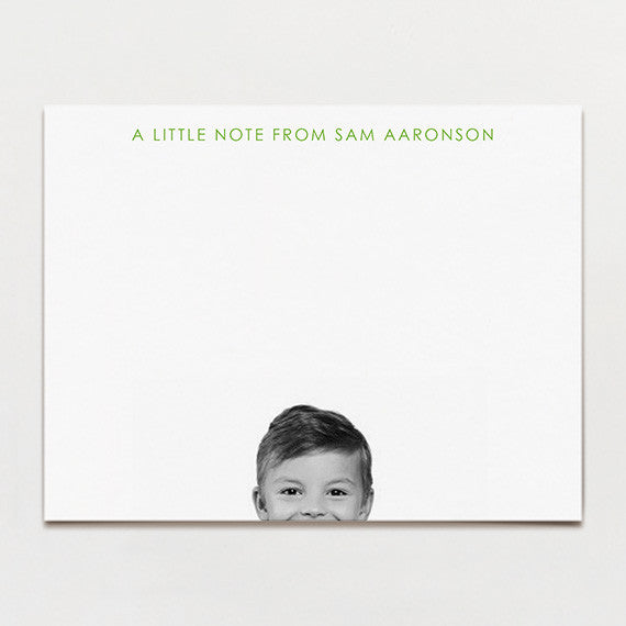 Peek-A-Boo Kid's Stationery