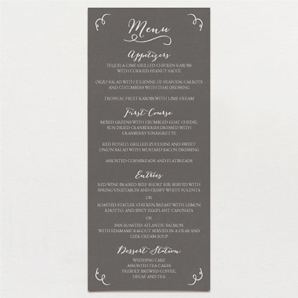 Pen and Ink Menu