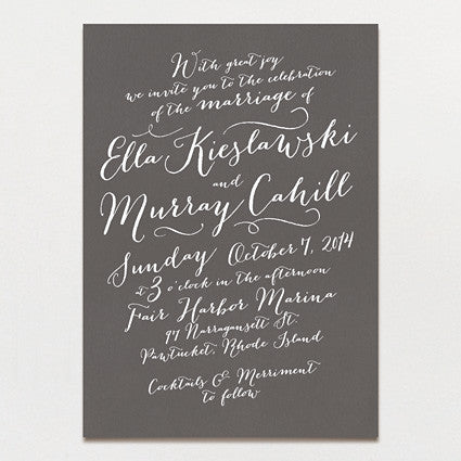 Pen and Ink Wedding Invitation