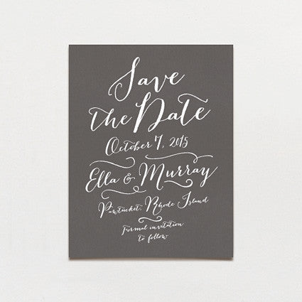 Pen and Ink Save The Date Postcard