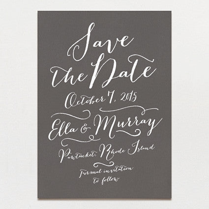 Pen and Ink Save The Date