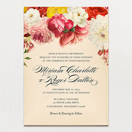Romantique Wedding Invitation