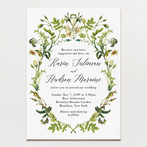 Rosehips Wedding Invitation