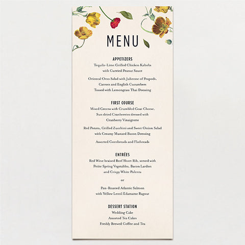 Scattered Menu
