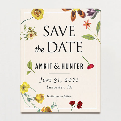 Scattered Save The Date Postcard