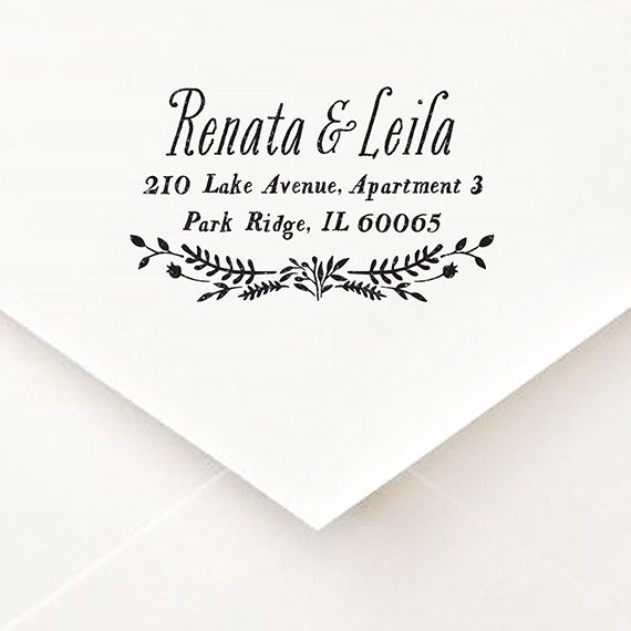 Secret Garden Address Stamp - $55