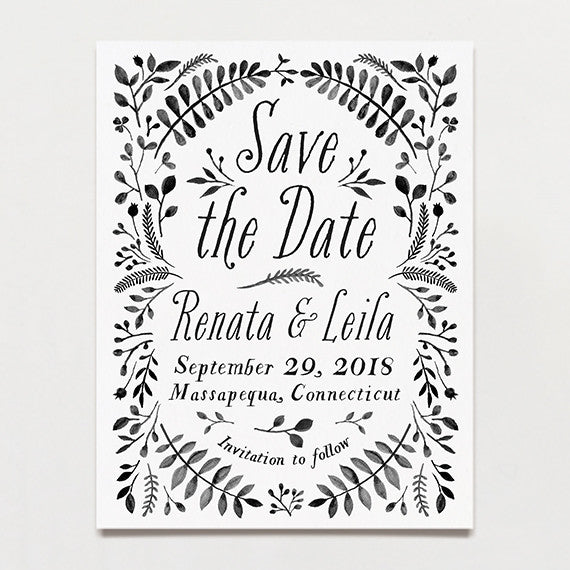 Secret Garden Save The Date Postcard