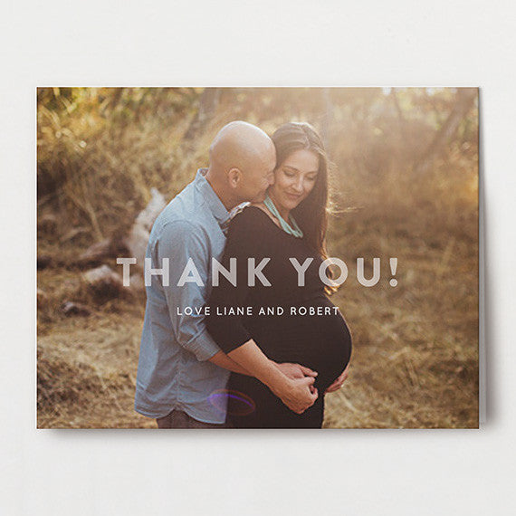 Subtle Modern Personalized Thank You