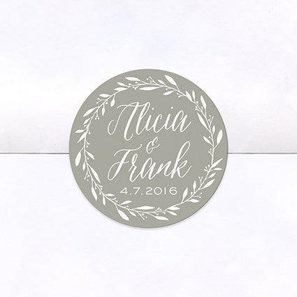 Simple Wreath Logo Stickers