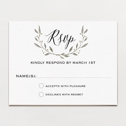 Simple Wreath Response Card