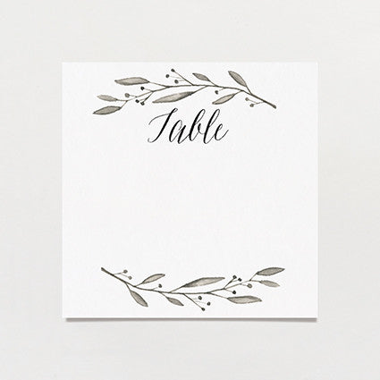 Simple Wreath Table Number