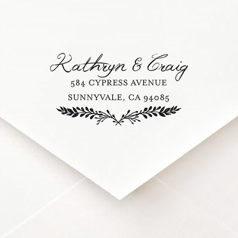 Spring Crest Address Stamp - $55