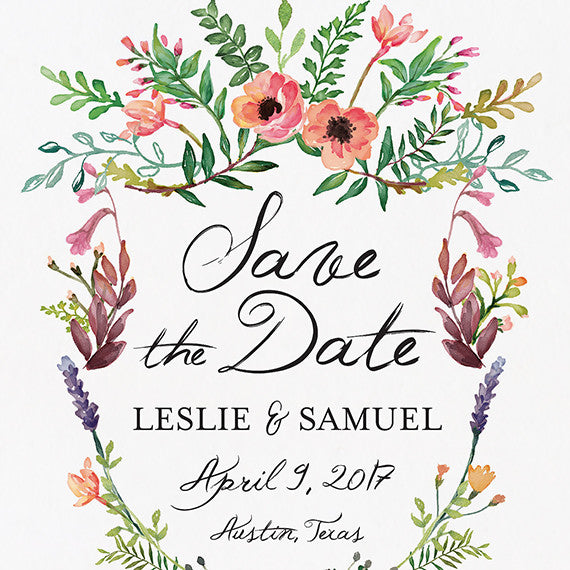 Spring Crest Save The Date Postcard