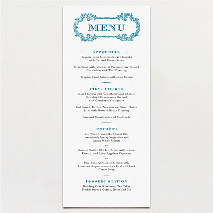 Starry Night Menu