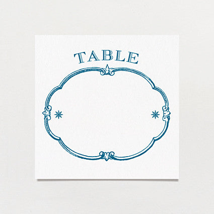 Starry Night Table Number
