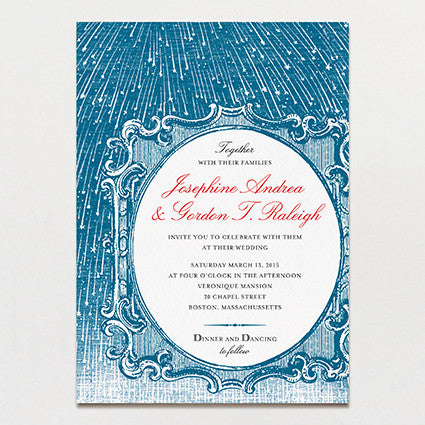 Starry Night Wedding Invitation